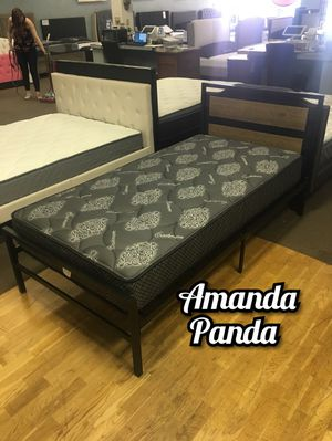 Twin bed frame with cashmere mattress included for Sale in Glendale, AZ