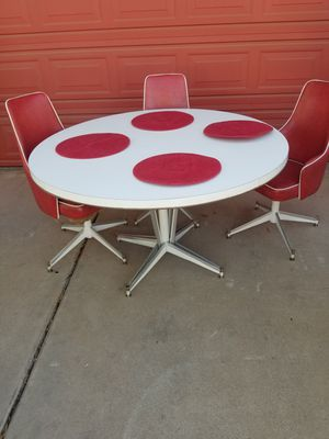 Kitchen Table 3 Swivel Chairs $100 for Sale in Tempe, AZ
