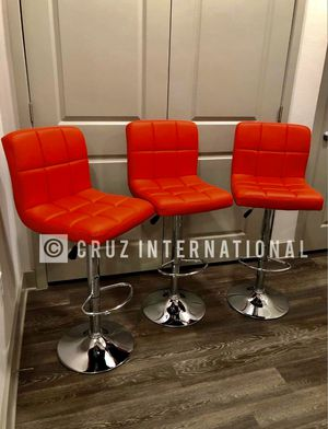 New 3 red stools for Sale in Orlando, FL