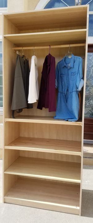 NEW Ikea Tall Closet Wardrobe Storage Clothes Organizer Stand + Shelves INCLUDED (Door extra $60) for Sale in Monterey Park, CA