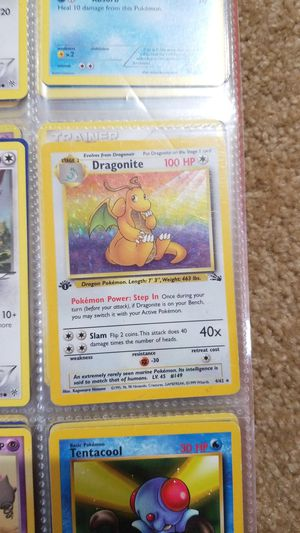 Edition 1 dragonite holo for Sale in Issaquah, WA