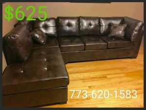Leather sectional! 100% NEW for Sale in Chicago, IL