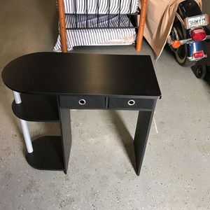 Small Black Desk With Fabric Drawers for Sale in Hemet, CA