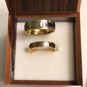 18K Gold plated Wedding Band Set for Gorgeous couples for Sale in Dallas, TX