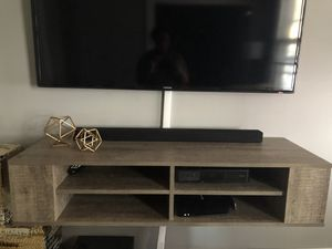 Used, South Shore Wall Mounted TV console - Weathered Oak for Sale for sale  Elizabeth, NJ