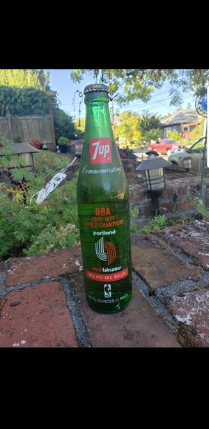 Portland Trail Blazers 7-Up Bottle for Sale in Gresham, OR
