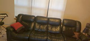 Leather couch for Sale in Tye, TX