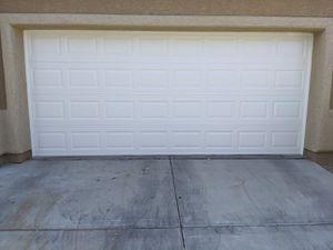 3 car garage door set + motor and brackets for Sale in North Las Vegas, NV