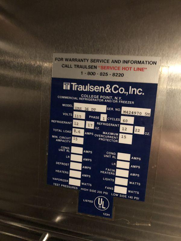 Traulsen glass door refrigerator/freezer