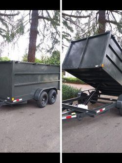 BRAND NEW DUMP TRAILER ROLLING TARP AND SPARE TIRE HEAVY DUTY12,000 LBS 8X12X4 HIGH,NEVER BEEN USED I HAVE THE TITLE IN HAND for Sale in Los Angeles,  CA