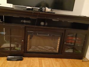 Electric fireplace TV stand for Sale in Aberdeen, WA