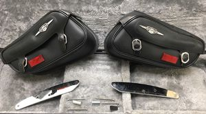 Suzuki Boulevard Motorcycle Saddlebags and Mounting Hardware (2 ea.) for Sale in Washington, DC