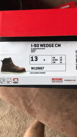 Work boots Wolverine I-90 carbon toe size 13 for Sale in Virginia Beach, VA