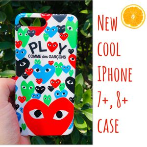 New cool iphone 7+ or iphone 8+ PLUS case rubber PLAY HEART hypebeast hype swag men's women's for Sale in San Bernardino, CA