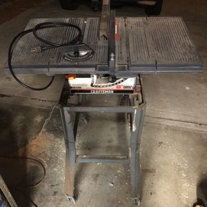 """Used 8""""craftsman table saw with rolling stand for Sale in Costa Mesa, CA"""