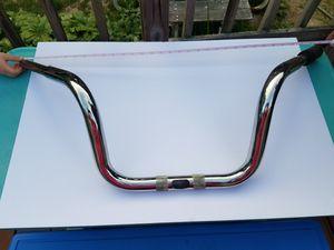 Harley Davidson motorcycle handle bars. 8 inch rise. Chrome for Sale in Halifax, MA