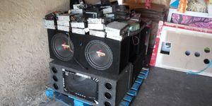 Ojo todo esto estereos bosinas amplificadores $1000 todo junto se vende for Sale in Fontana, CA