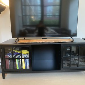 Black Large TV Stand - Threshold for Sale in Brooklyn, NY