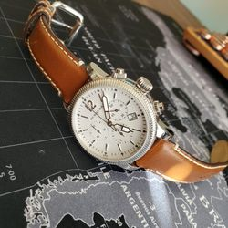 BURRBERRY BU7817 Women Wrist Watch Swiss Chronograph Brown Leather Strap 42mm Sapphire Crystal!!!! for Sale in Portland,  OR