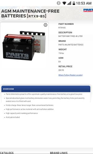 Battery 9bs for Sale in Chula Vista, CA