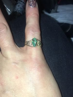 GORGEOUS, Genuine Emerald and Black Hills Gold 10k size 6 Ring for Sale in Colorado Springs, CO