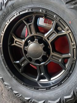 4 New wheels end tires chebrolet 2500 End 3500 8 Lug Rin 20. 8x1.80 for Sale in Mableton,  GA
