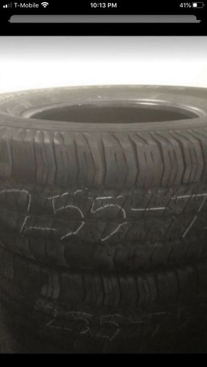 2 tires Goodyear 255/75/17 50% tread for Sale in Temecula, CA