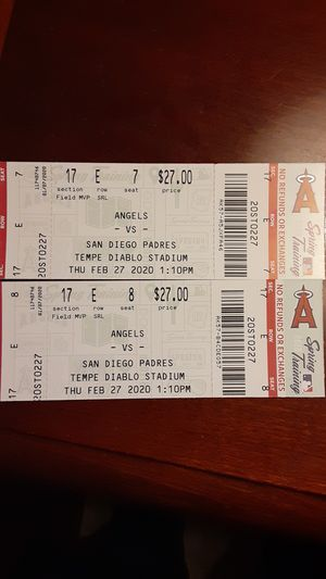 Angels vs Padres front row tickets for Sale in Chandler, AZ