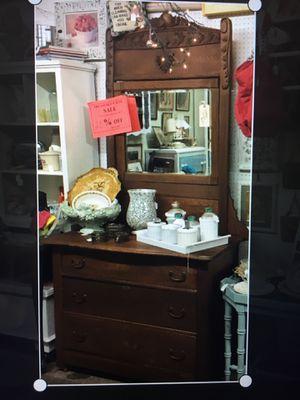 Beautiful oak dresser with castors for Sale in Chino, CA