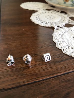 Theee Pandora 925 silver bracelet charms! for Sale in Hanover Park, IL