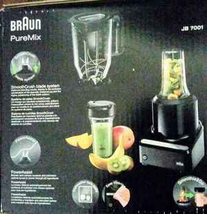 Braun JB7001 PureMix Countertop Blender with Smoothie2Go Black for Sale in Santa Ana, CA