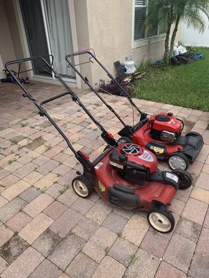 2 self propelled Lawn Mowers (Troy Bilt, Craftsman) Briggs Stratton Engines for Sale in Orlando, FL