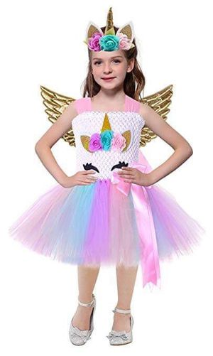 Unicorn Costume Birthday Party Tutu Dress for Girls Princess Halloween for Sale in Houston, TX