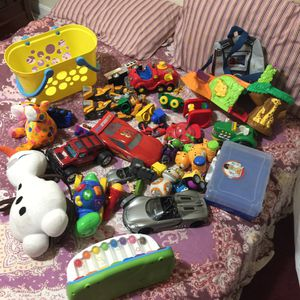 Kids toddlers baby toys cars blocks stuff toys bundle for Sale in Silver Spring, MD