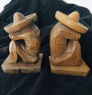 Roos Bros Vintage Wood Siesta Bookends for Sale in Bronx, NY