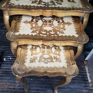 Vintage Italian Florentine Nesting Tables for Sale in Washington, DC