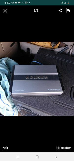 1500 watt monoblock amp class D 1 channel for Sale in Ontario, CA