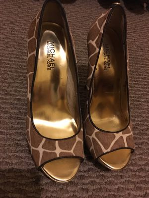 Michael Kors giraffe print heels like new for Sale in Philadelphia, PA