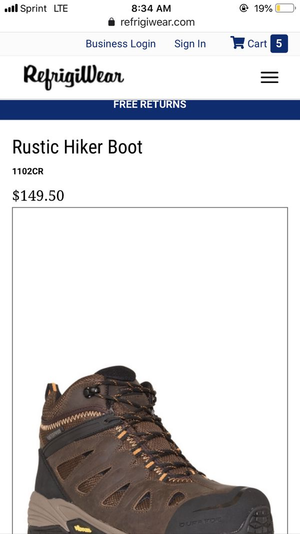 Rustic Hiker style boot