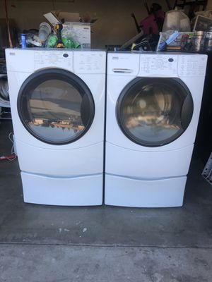 Kenmore washer and dryer gas heavy duty super capacity plus good condition deliver and installation available for Sale in Bloomington, CA