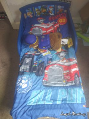 Paw patrol bed frame and sheets for Sale in New Cumberland, PA