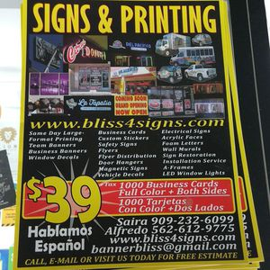 Signs & Printing for Sale in Fontana, CA
