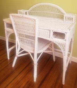 Wicker Vanity/Desk for Sale in Chicopee, MA