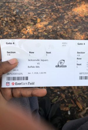 Jags Tickets!! for Sale in Jacksonville, FL