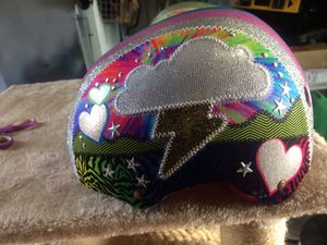 2 girls bike helmets. Used 2x. New condition for Sale in Kent, WA