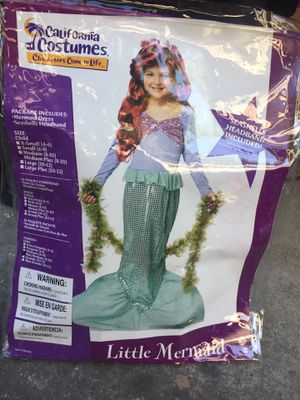 Used mermaid costume size M 8-10 $5 for Sale in Castro Valley, CA