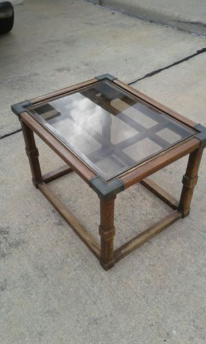 Antique wood and glass table. for Sale in Houston, TX