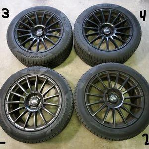 4 Pirelli Scorpion Winter Tires and 4 OZ RacingSuperturismo Dakar Black PaintedWheels (set of 4) - 2017 Jeep SRT compatible for Sale in Sterling, VA
