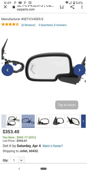 Brand New chevy mirror for Sale in Joliet, IL