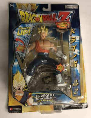Jakks Pacific Dragon Ball Z POWER UP! SS VEGITO BATTLE DAMAGED 5 DBZ dragonball for Sale in Spring Hill, FL